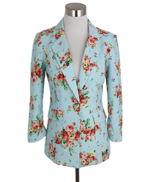 Likely Blue Red Floral Polyester Spandex Jacket 1