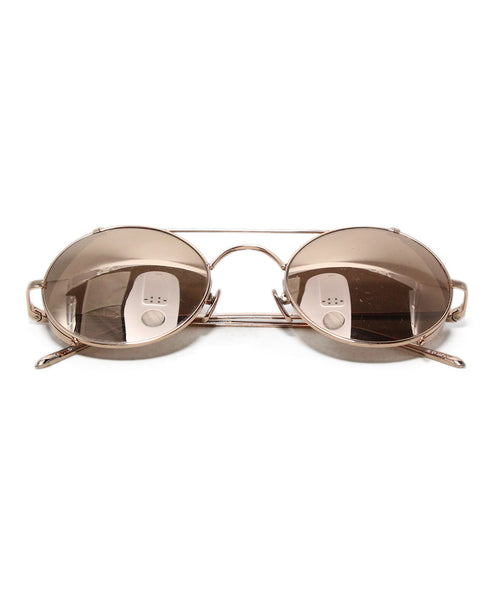Linda Farrow Rose Gold Metal Sunglasses 1