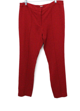 Lippes Size 8 Red Viscose Sp 21 Storage Pants