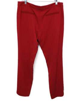 Lippes Red Viscose Pants 1