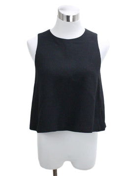 Lisa Perry Black Virgin Wool Top