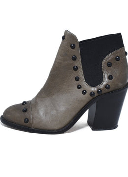 Loeffler Randall Brown Leather Studs Booties 2