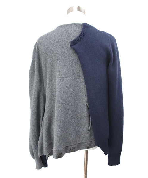 Loewe Blue Charcoal Wool Cashmere Sweater 3