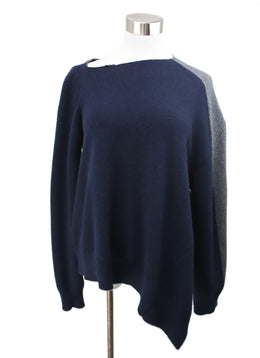 Loewe Blue Charcoal Wool Cashmere Sweater 1