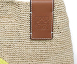 Loewe Neutral Tan Straw W/Strap Handbag 6