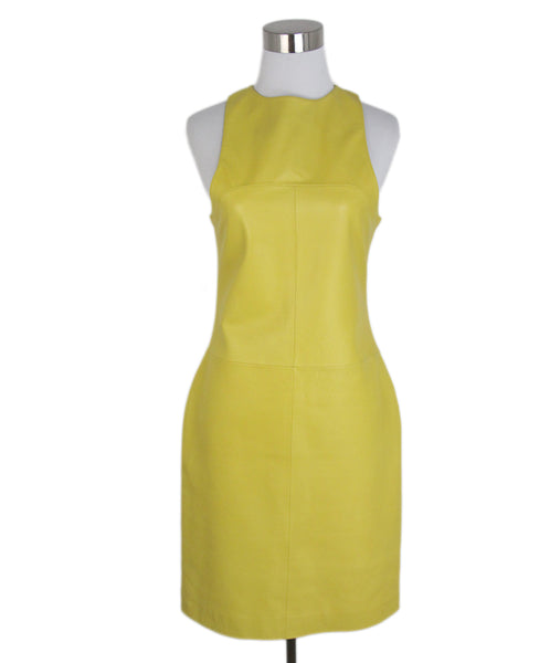 Loewe Yellow leather dress 1
