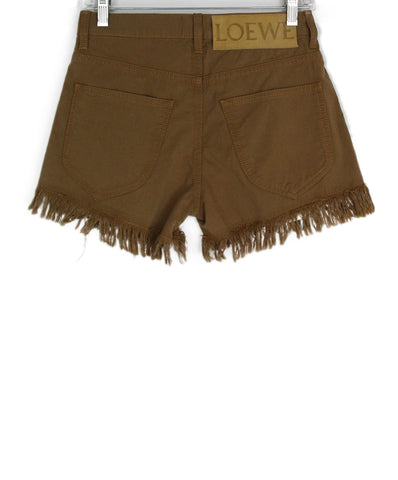 Loewe Brown Cotton Shorts 1
