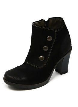 London Black Suede Booties 1
