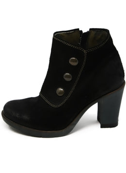 London Black Suede Booties 2