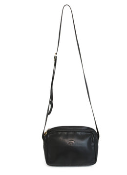 Longchamp Black Leather Crossbody 1