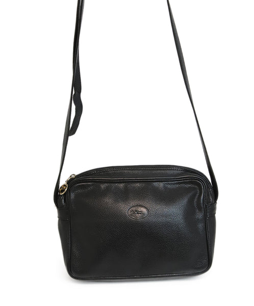Longchamp Black Leather Crossbody 2