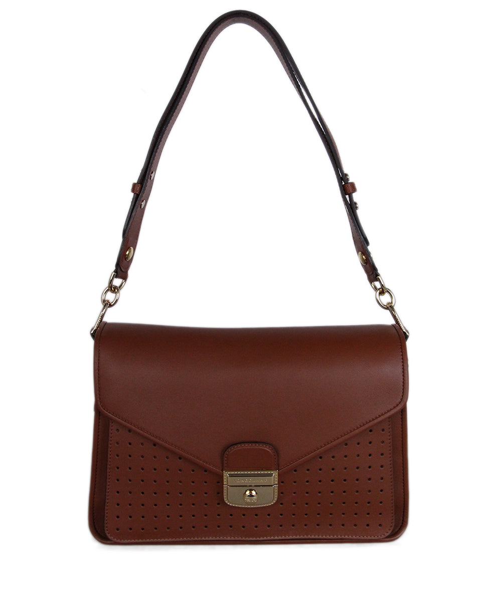 Longchamp Brown Cognac Leather Bag 1