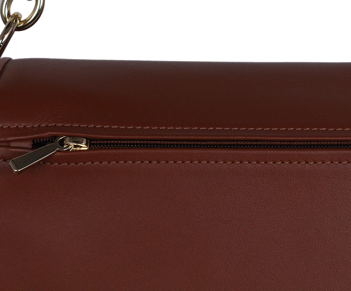 Longchamp Brown Cognac Leather Bag 5