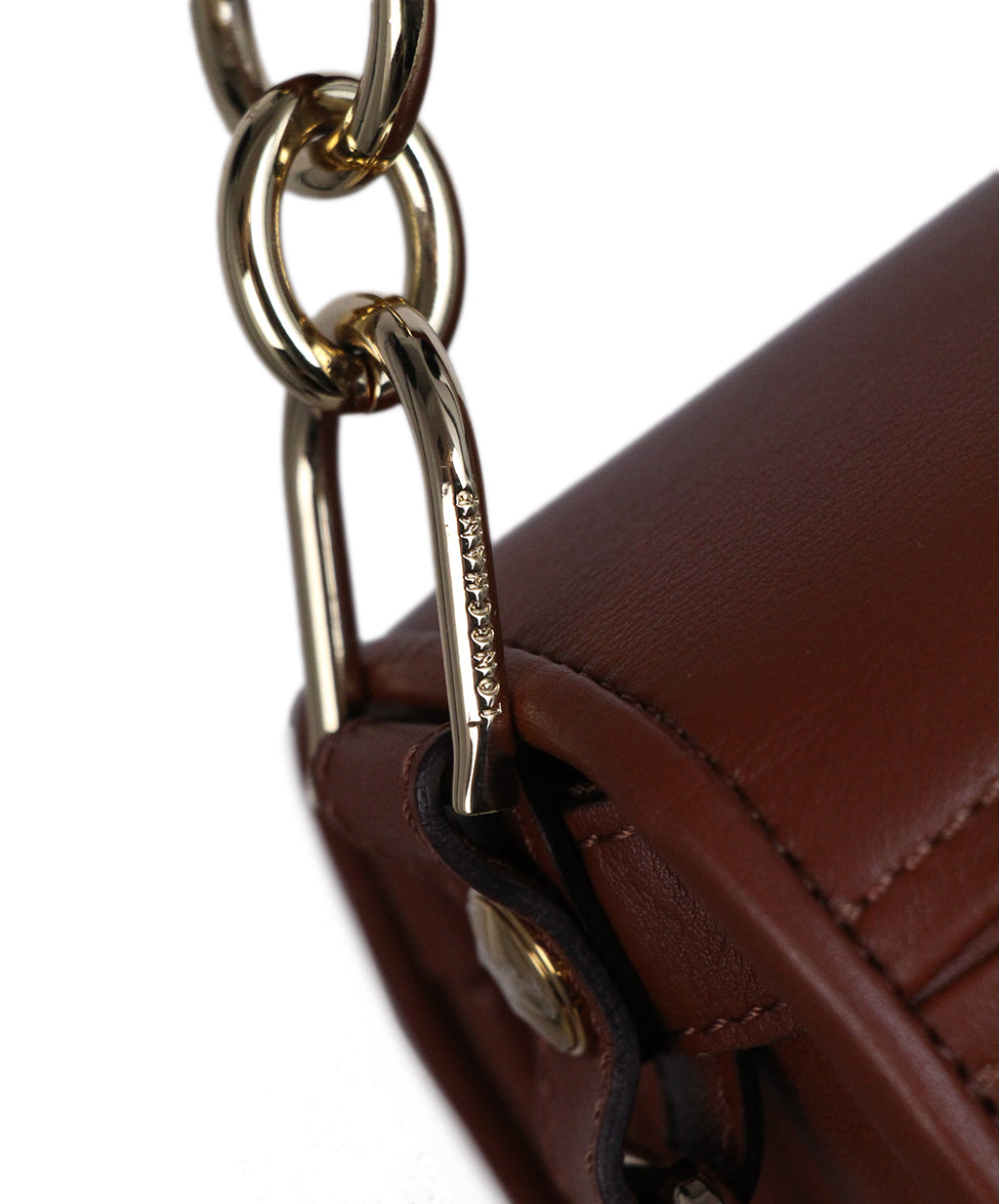 Longchamp Brown Cognac Leather Bag 6