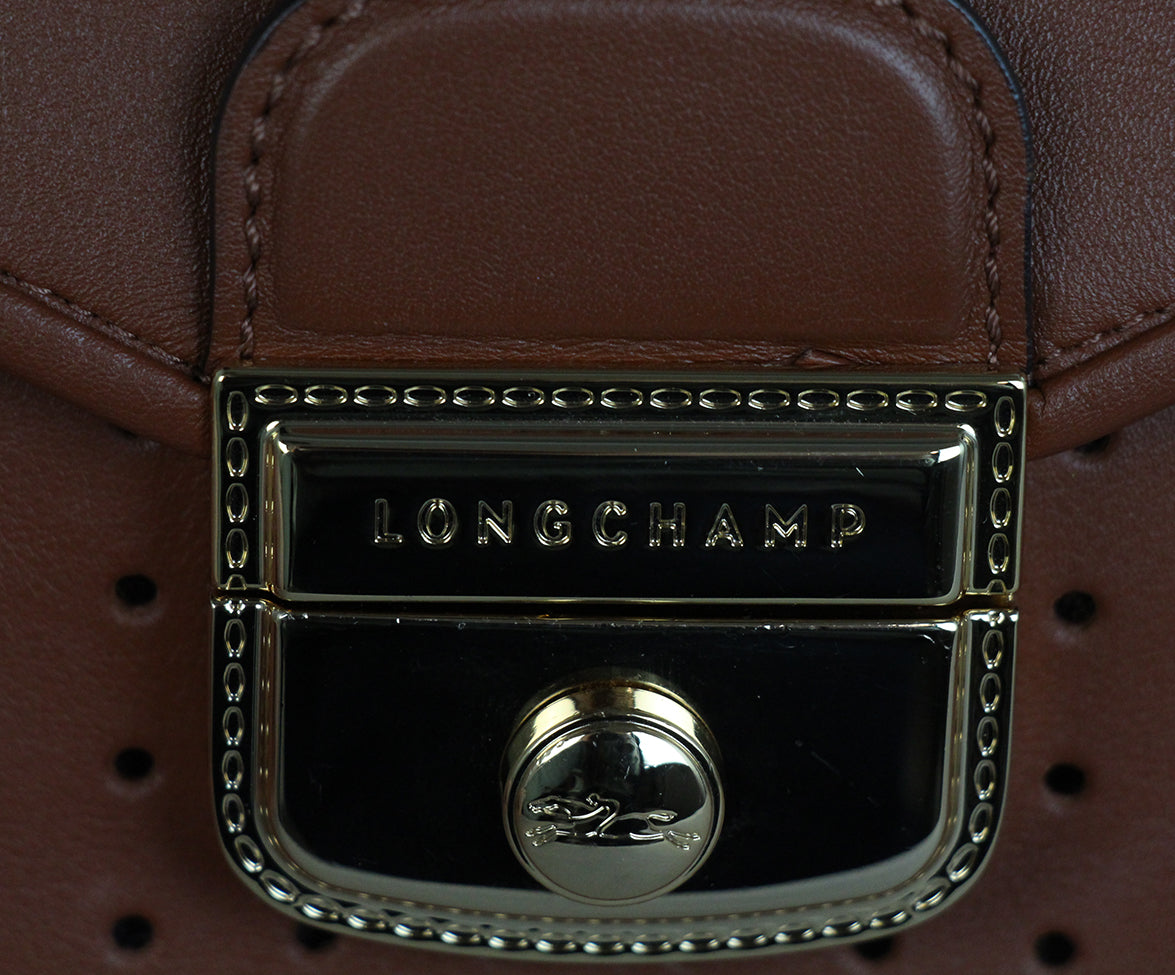 Longchamp Brown Cognac Leather Bag 7