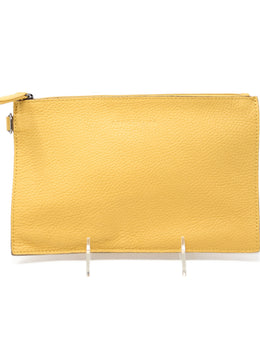 Longchamp Yellow Mustard Pouch 1