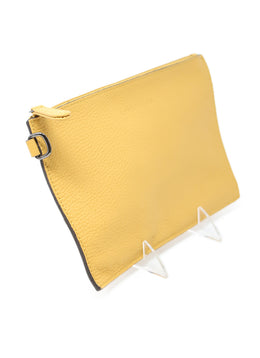 Longchamp Yellow Mustard Pouch 2