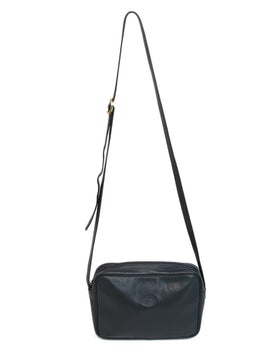 Longchamp Navy Blue Leather Crossbody 1