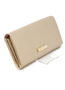 Longchamp Gold Leather Wallet 2