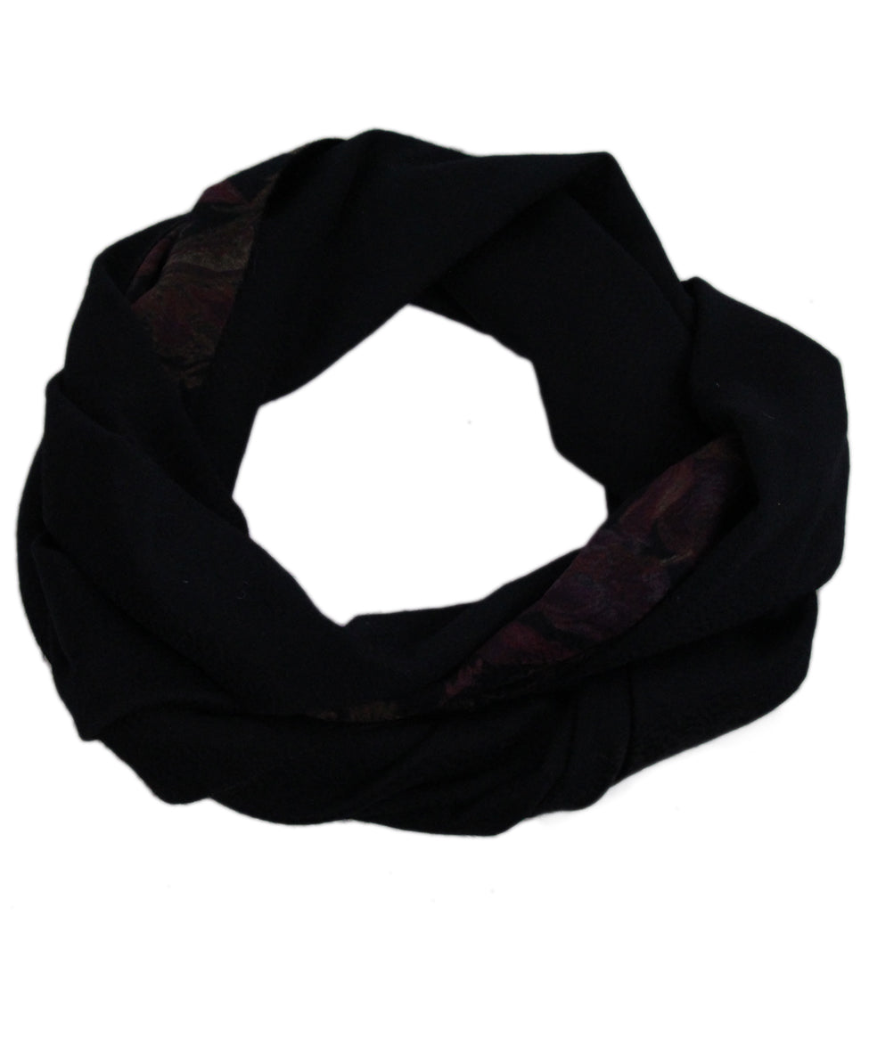 Loro Piana Black Brown Burgundy Cashmere Scarf 1