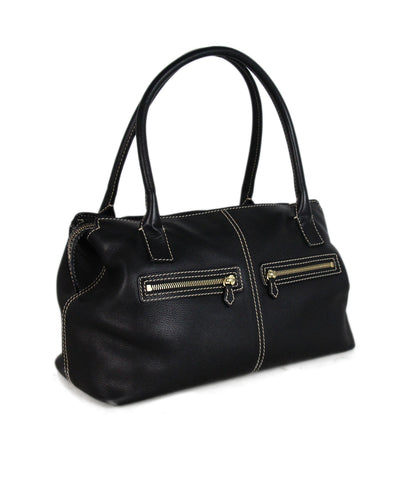Loro Piana Black leather shoulder bag 1