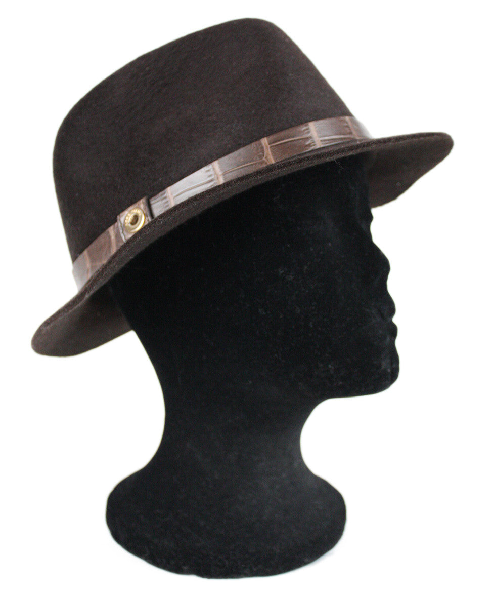 Loro Piana Brown Felt Hat - Michael's Consignment NYC  - 1