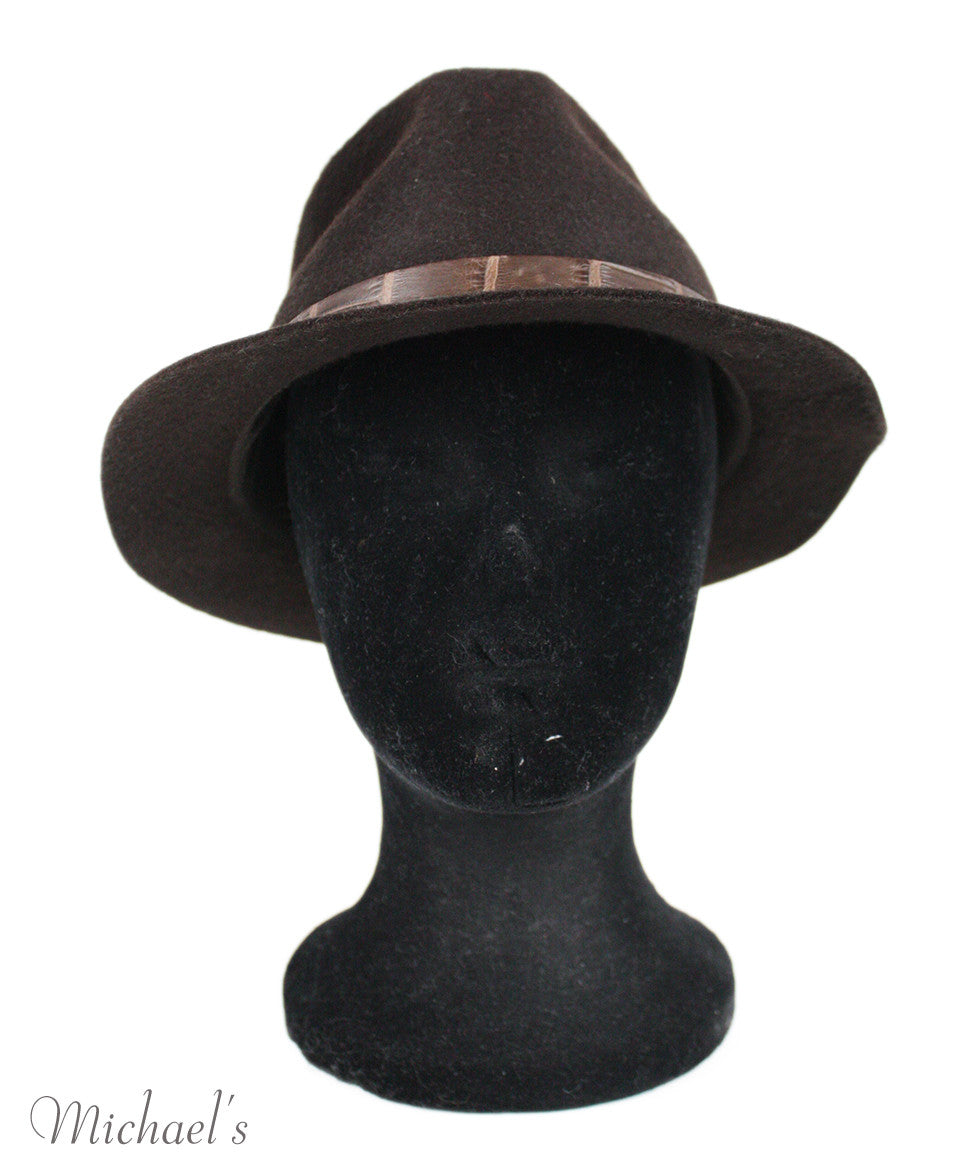 Loro Piana Brown Felt Hat - Michael's Consignment NYC  - 2