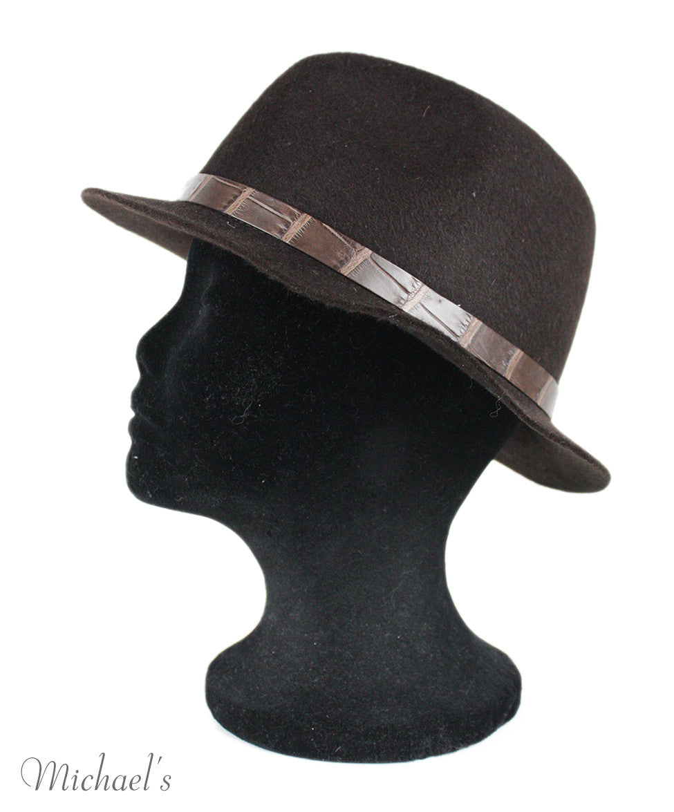 Loro Piana Brown Felt Hat - Michael's Consignment NYC  - 3