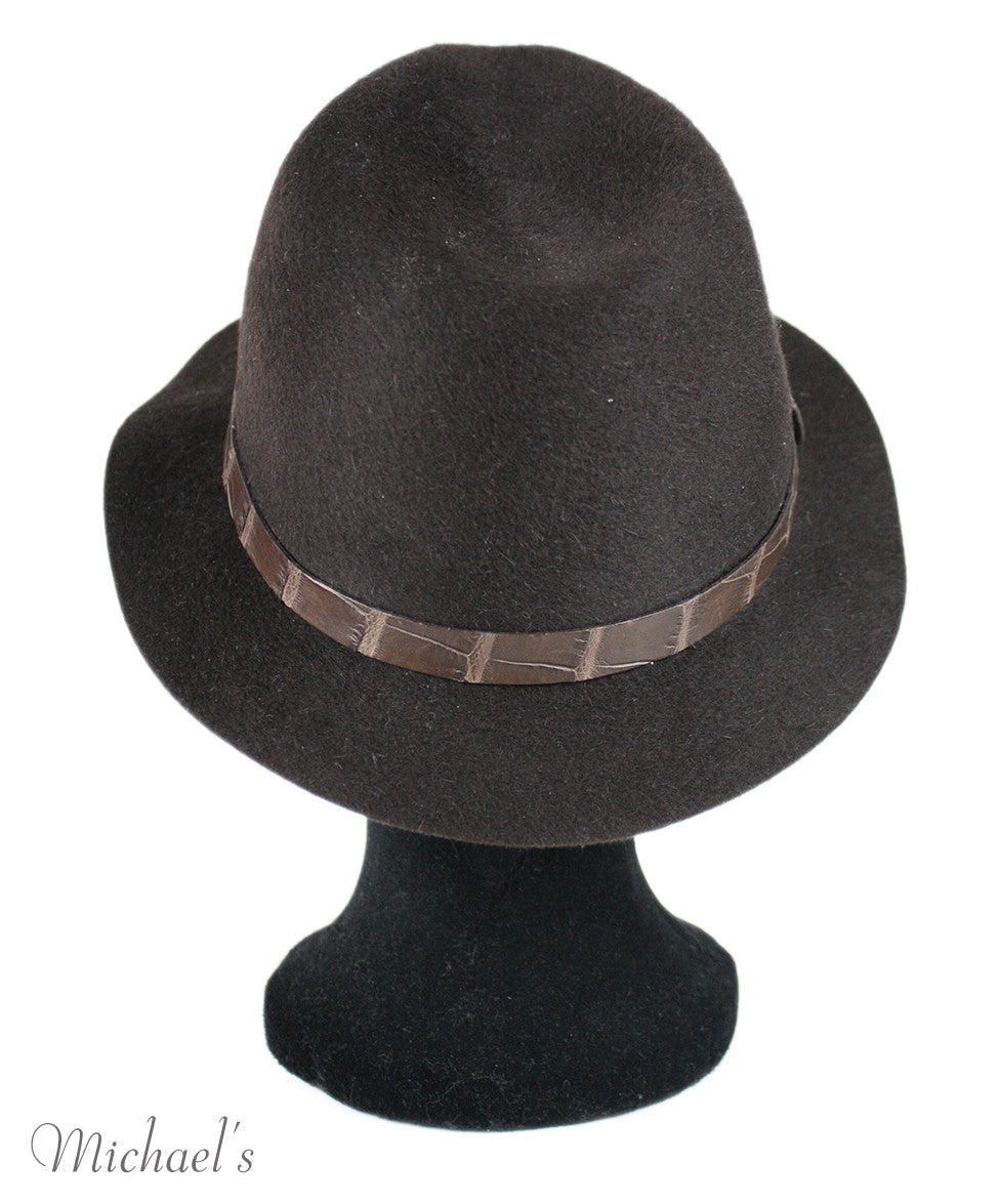 Loro Piana Brown Felt Hat - Michael's Consignment NYC  - 4