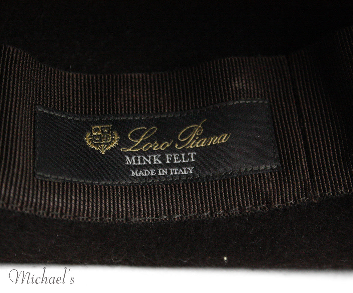 Loro Piana Brown Felt Hat - Michael's Consignment NYC  - 5