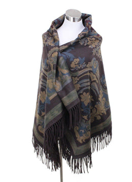 Shawl Loro Piana Brown Print Cashmere Scarf