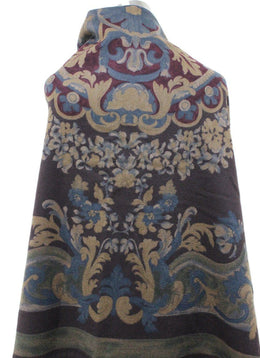 Shawl Loro Piana Brown Print Cashmere Scarf 1
