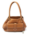Loro Piana Brown Leather Shoulder Handbag 1