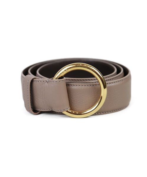 Loro Piana  Taupe Leather Belt