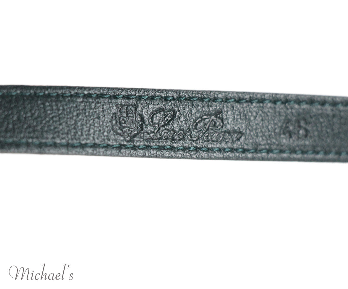 Loro Piana Green Leather Belt - Michael's Consignment NYC  - 3