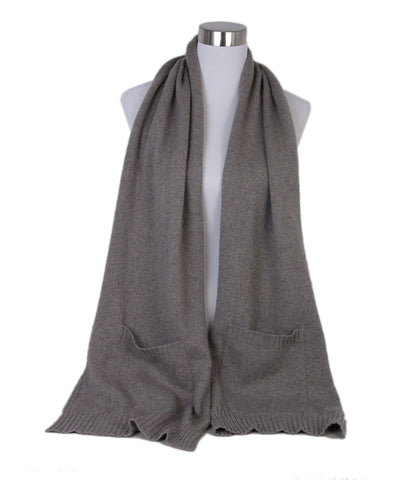 Loro Piana Grey Natural Cashmere Scarf 1