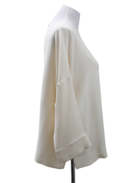 Loro Piana Cream Silk Blouse