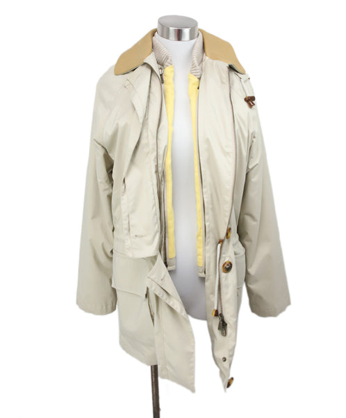 Loro Piana Neutral Beige Jacket with Removable Lining and Hood 1