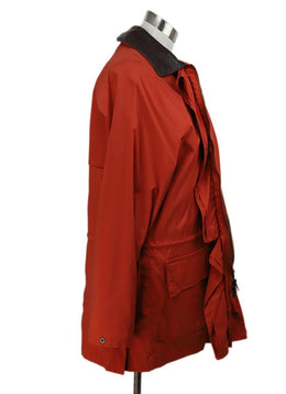 Loro Piana Orange Polyamide Coat 2