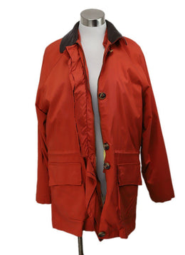 Loro Piana Orange Polyamide Coat 1
