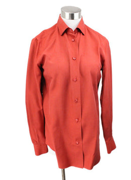 Blouse Loro Piana Red Brick Silk Top 1
