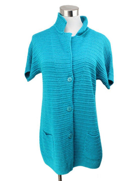 Loro Piana Turquoise Silk and Linen Sweater 1