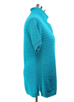 Loro Piana Turquoise Silk and Linen Sweater 2