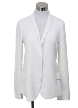 Loro Piana White Silk Blazer