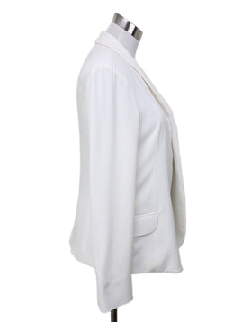 Loro Piana White Silk Blazer 1