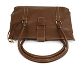 Loro Piana Brown Leather Cream Stitching Tote Handbag 5