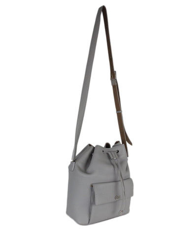 Loro Piana grey leather crossbody 1