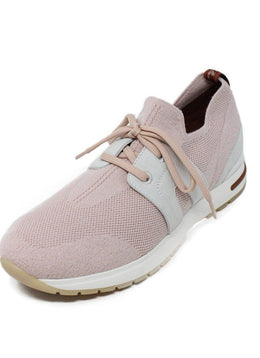 Loro Piana Pink Knit Spandex Sneakers