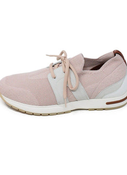 Loro Piana Pink Knit Spandex Sneakers 1