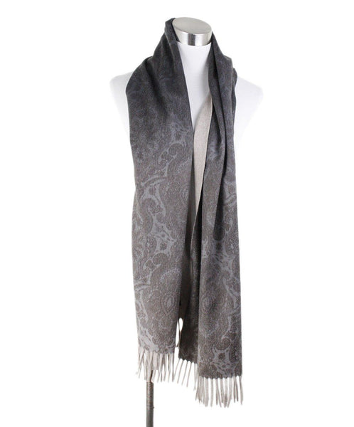 Loro Piana Neutral Beige Brown Cashmere Scarf